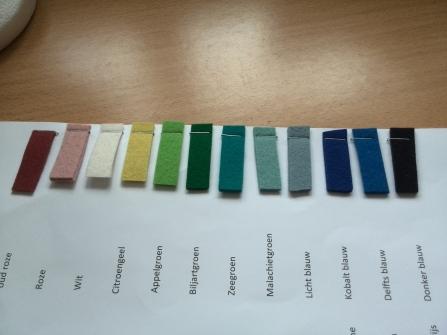 kleurstalen vilt